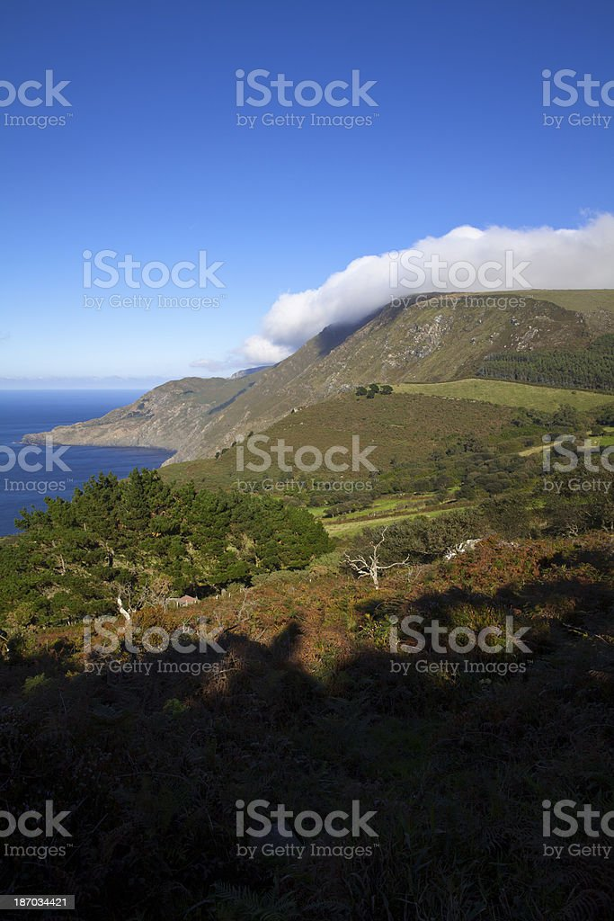 Light, shadow and a cloud royalty-free stock photo