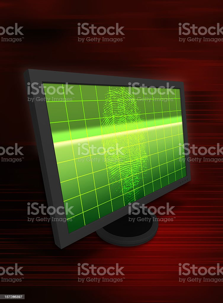 Light Shining on a Fingerprint royalty-free stock photo