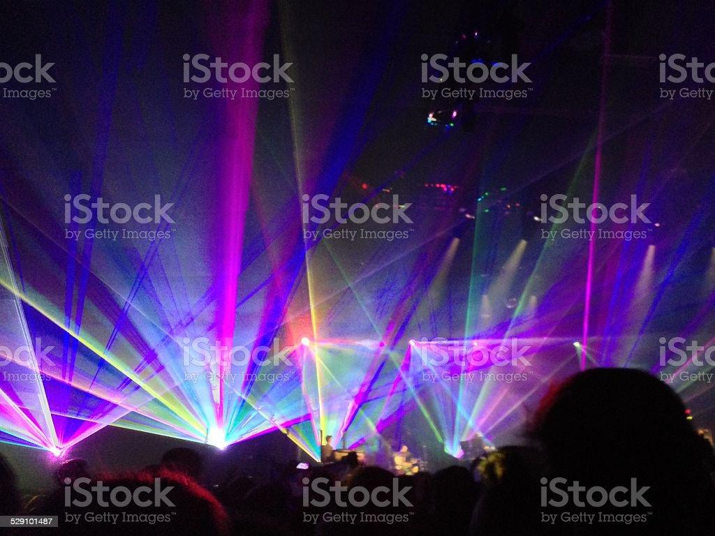 Light show stock photo