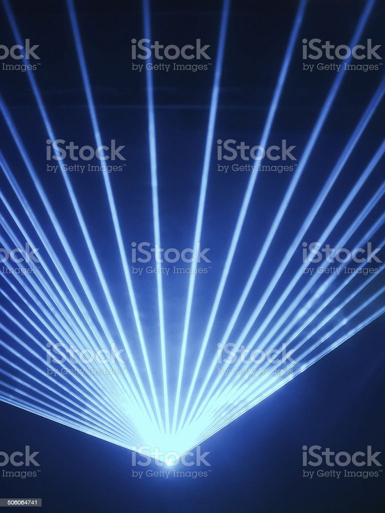 Light show rays in discotheque stock photo