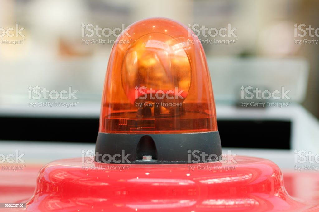Light signal on special equipment. stock photo