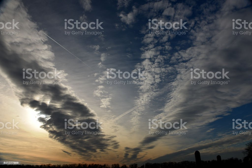 Light Sky Clouds in Kansas stock photo