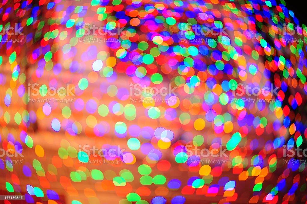 Light spheres stock photo
