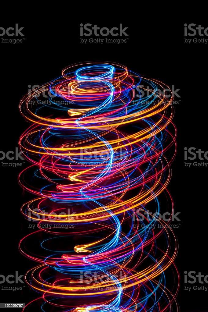 light spiral stock photo