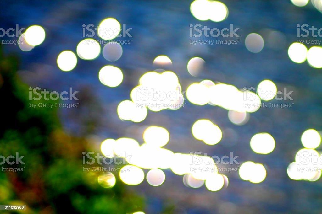 Light spots bokeh stock photo