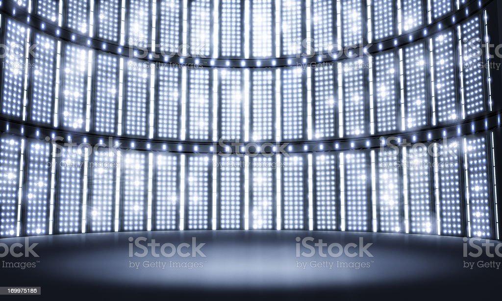 Light stage concert stock photo