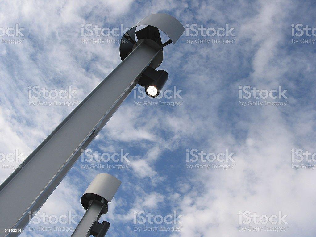 Light Standards III, Millennium Park, Calgary, AB stock photo