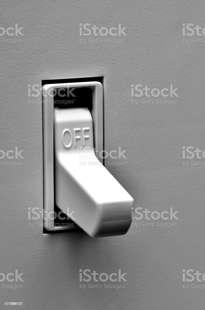 Light Switch in Off Position stock photo