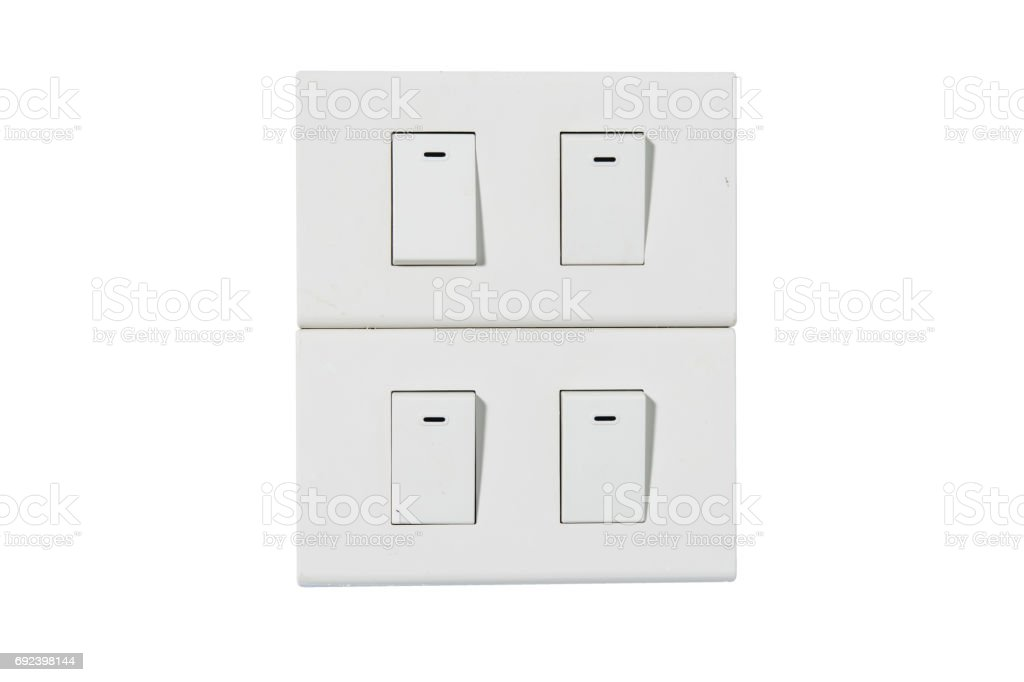 light switch isolate stock photo