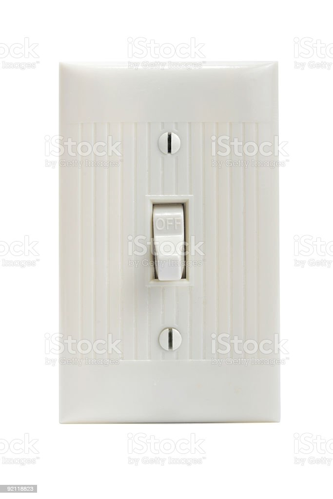 Light switch off on white background royalty-free stock photo