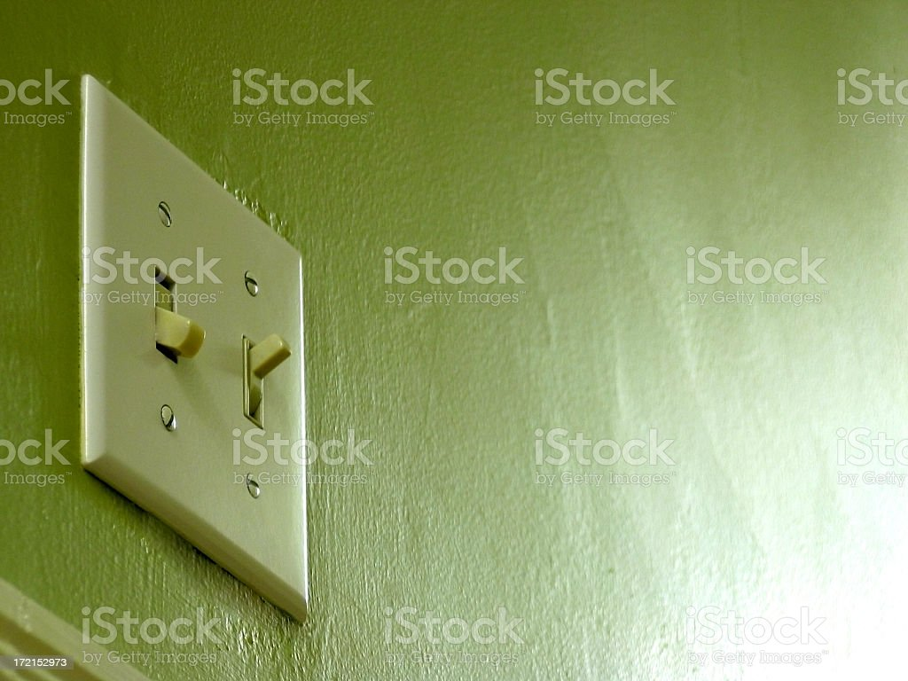 Light Switch on green royalty-free stock photo