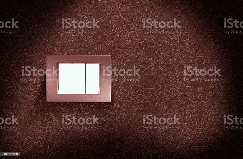 Light switch on wall royalty-free stock photo