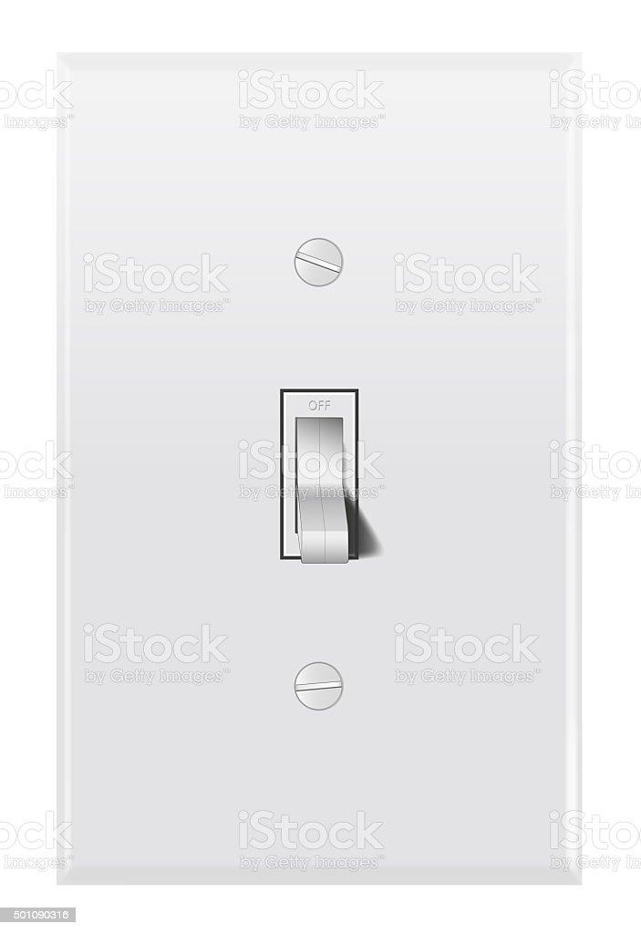 Light switch stock photo