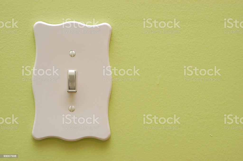 Light Switch (on) royalty-free stock photo