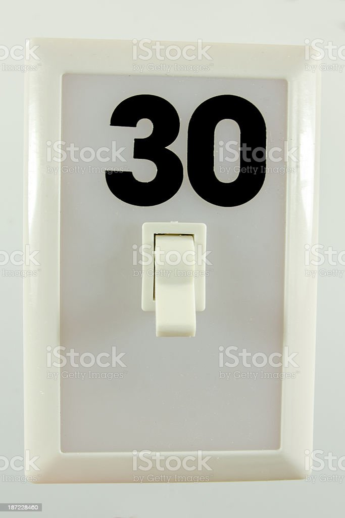 Light Switch With 30 royalty-free stock photo