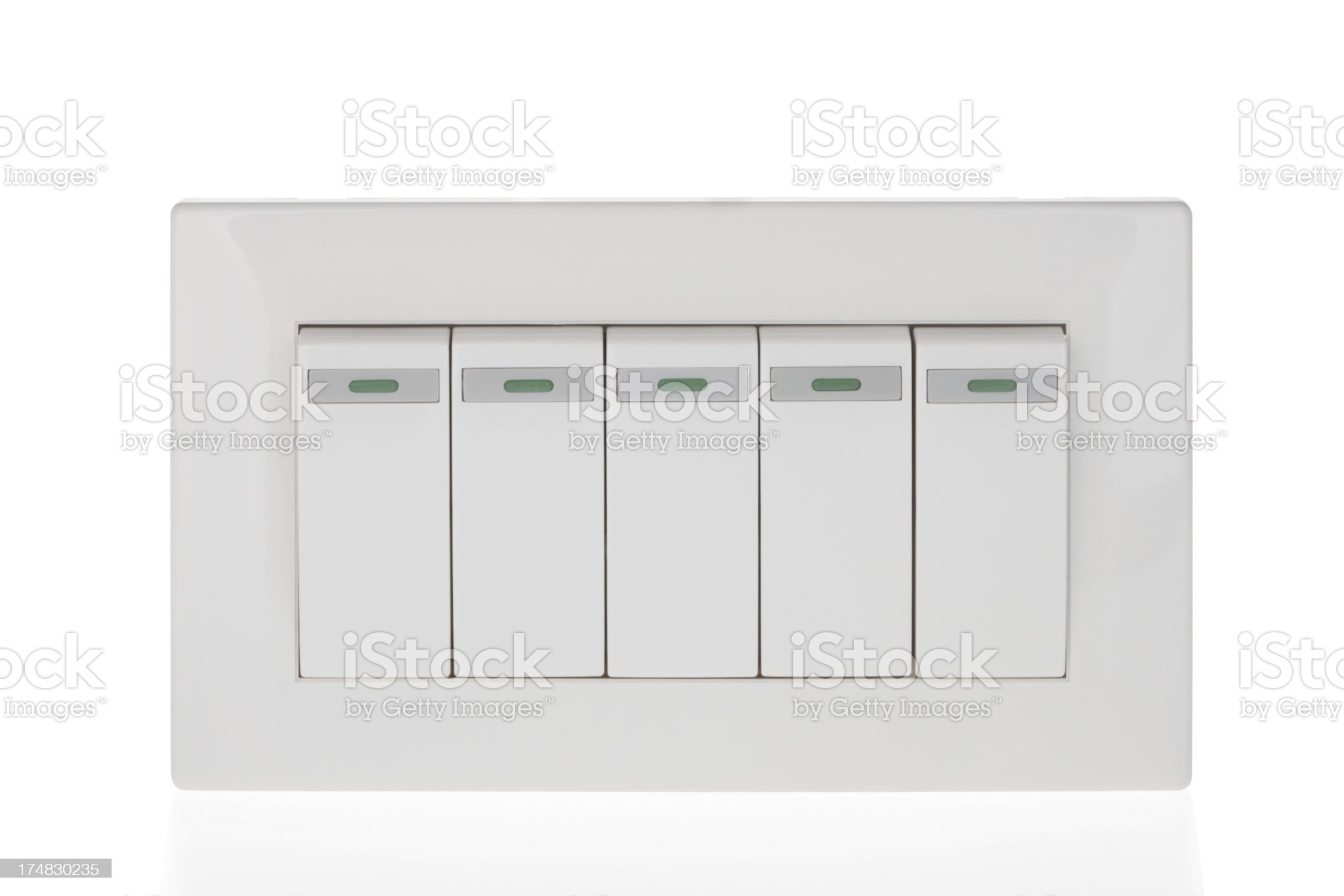 Light switches on white background royalty-free stock photo