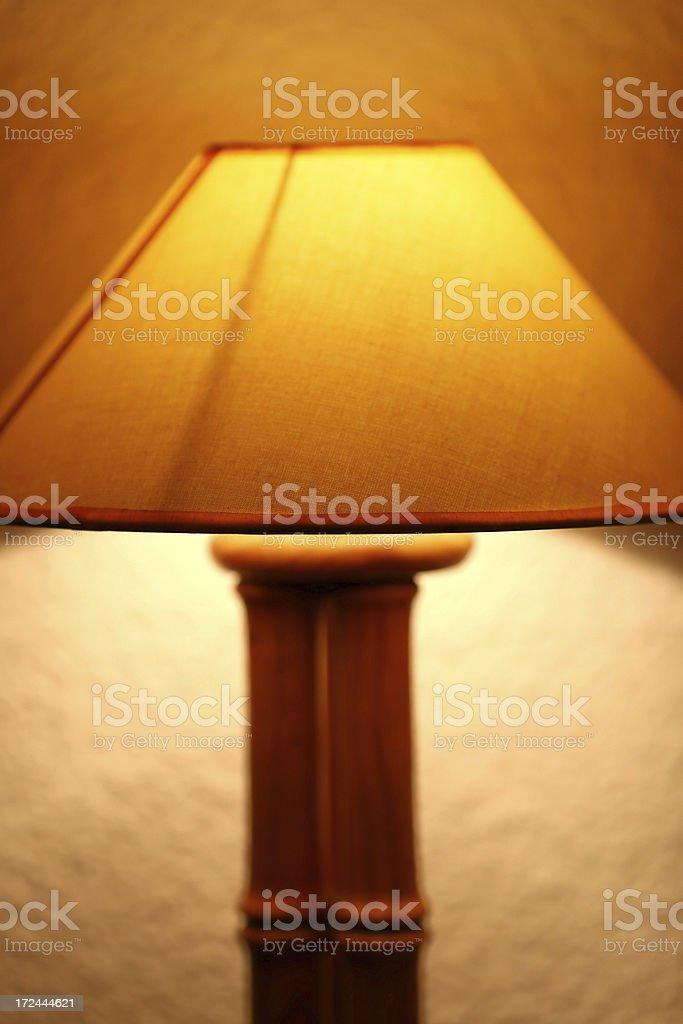Light table lamp. Brown lamp. Hotel lamp royalty-free stock photo