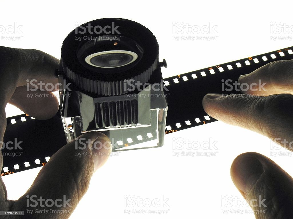 Light table plus loupe royalty-free stock photo