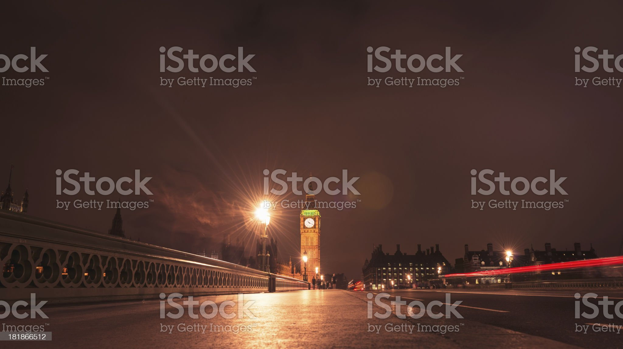 light tail on Westmister royalty-free stock photo