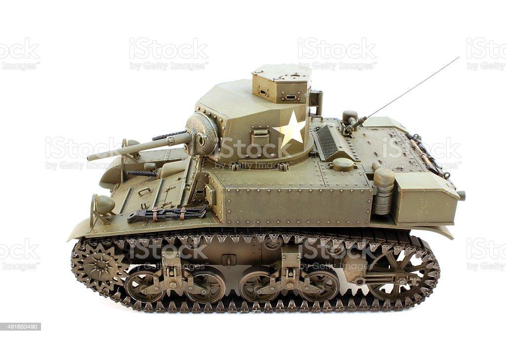 Light Tank M3 view left stock photo