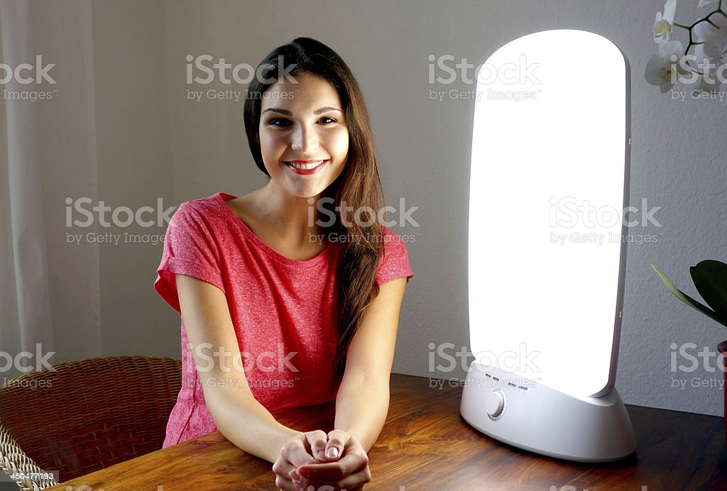 Light therapy stock photo