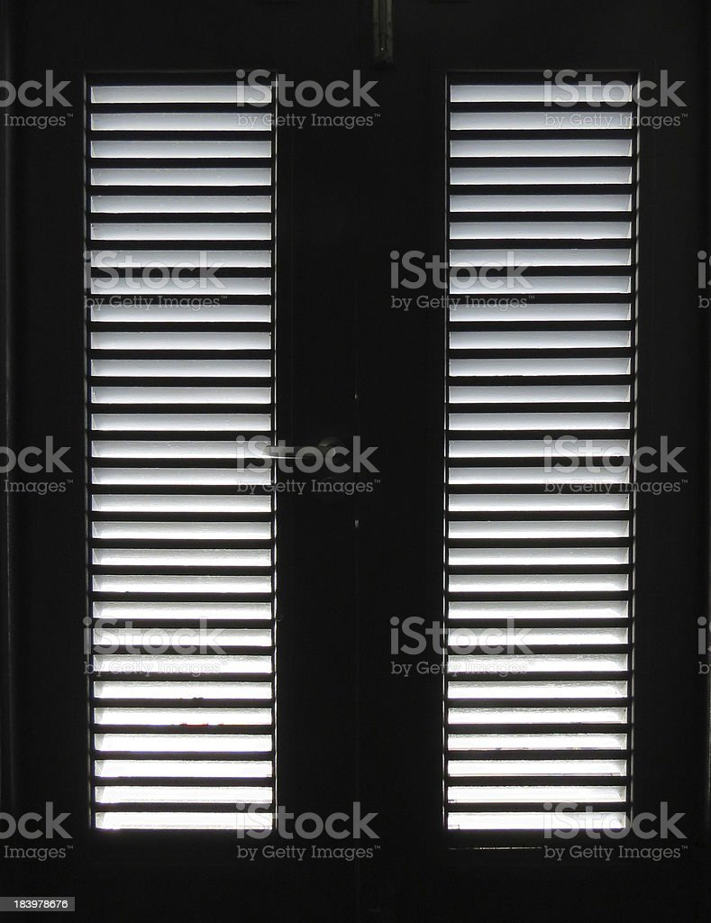 Light through Door Slats royalty-free stock photo