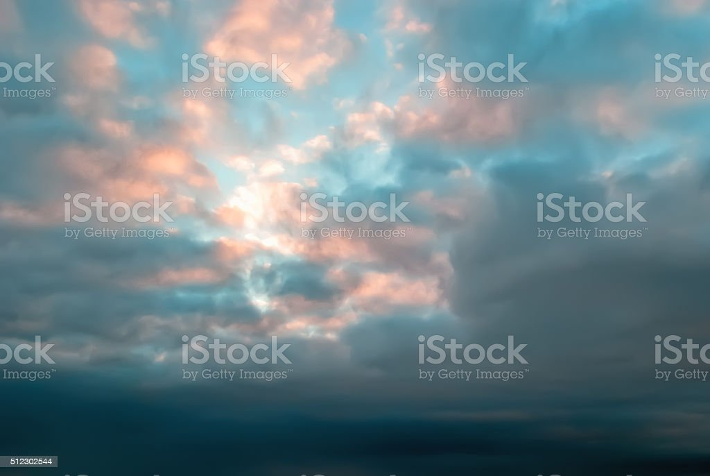 Light through the clouds stock photo
