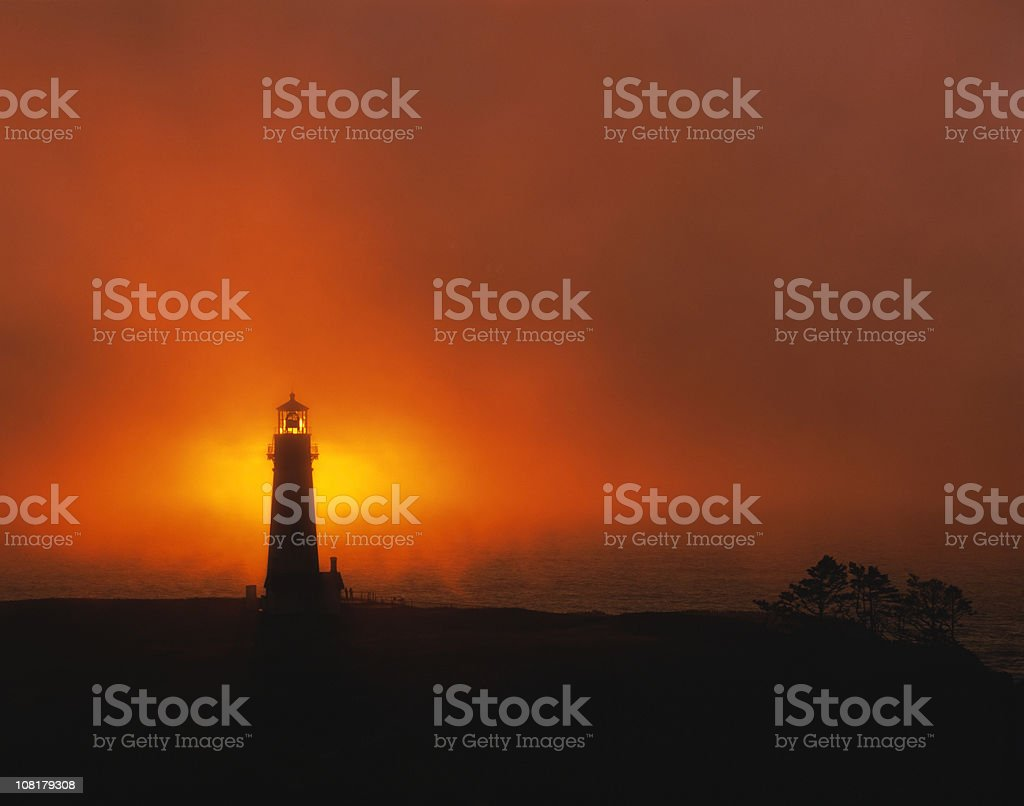 Light through the Lighthouse stock photo