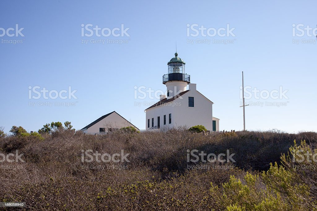 Light Tower in San Diego stock photo