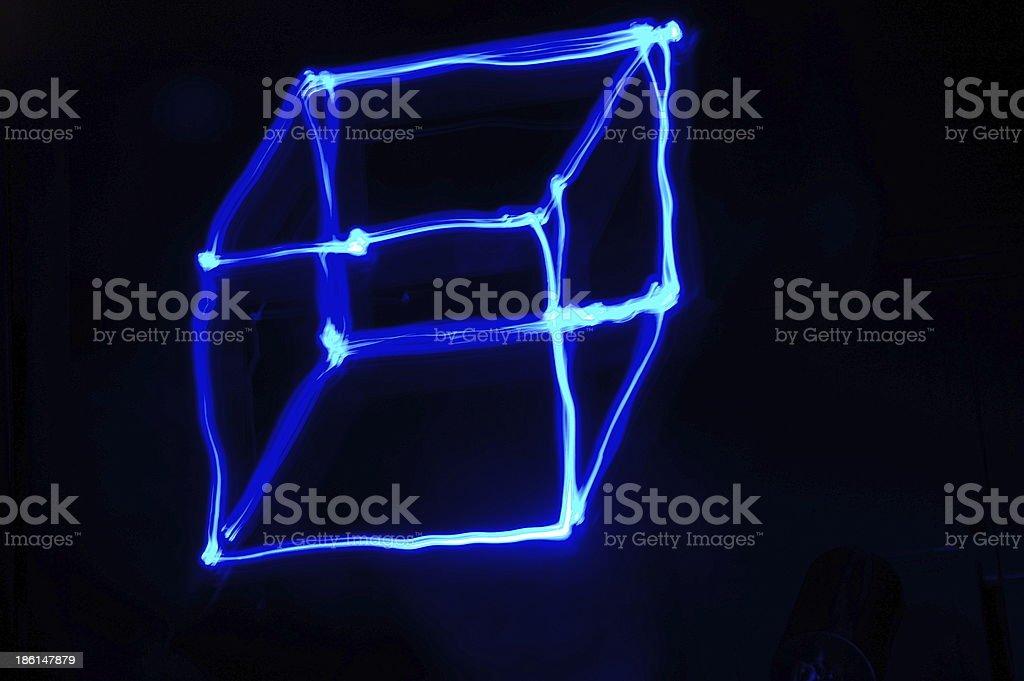Light Trail of Box royalty-free stock photo