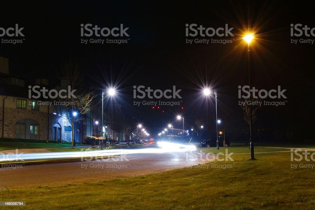 Light Trails in Poundbury royalty-free stock photo