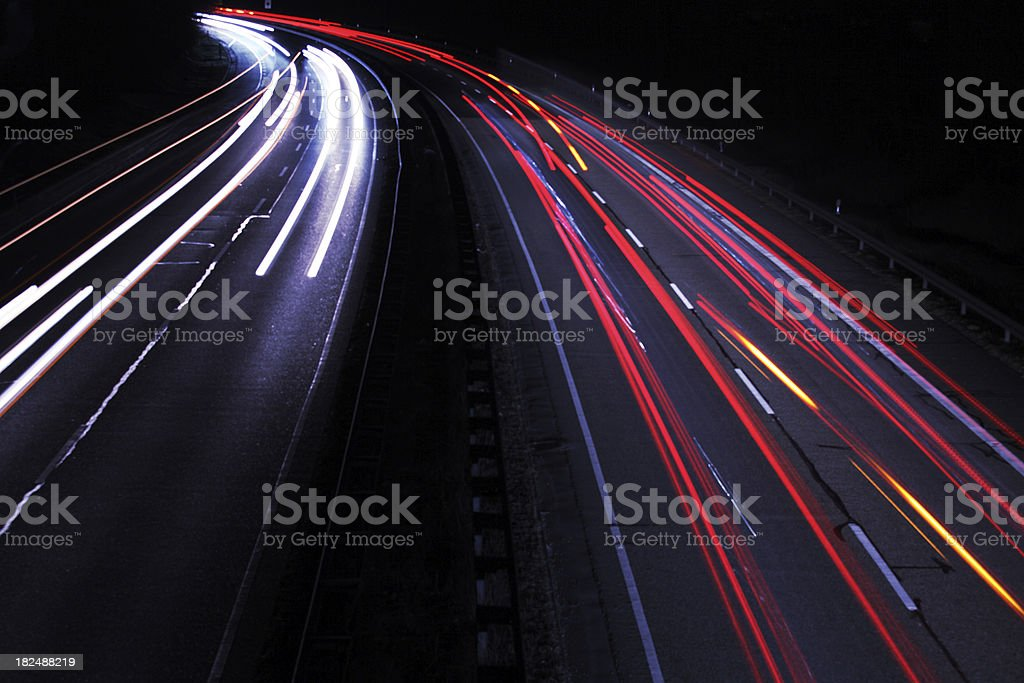 Light Trails of Cars royalty-free stock photo
