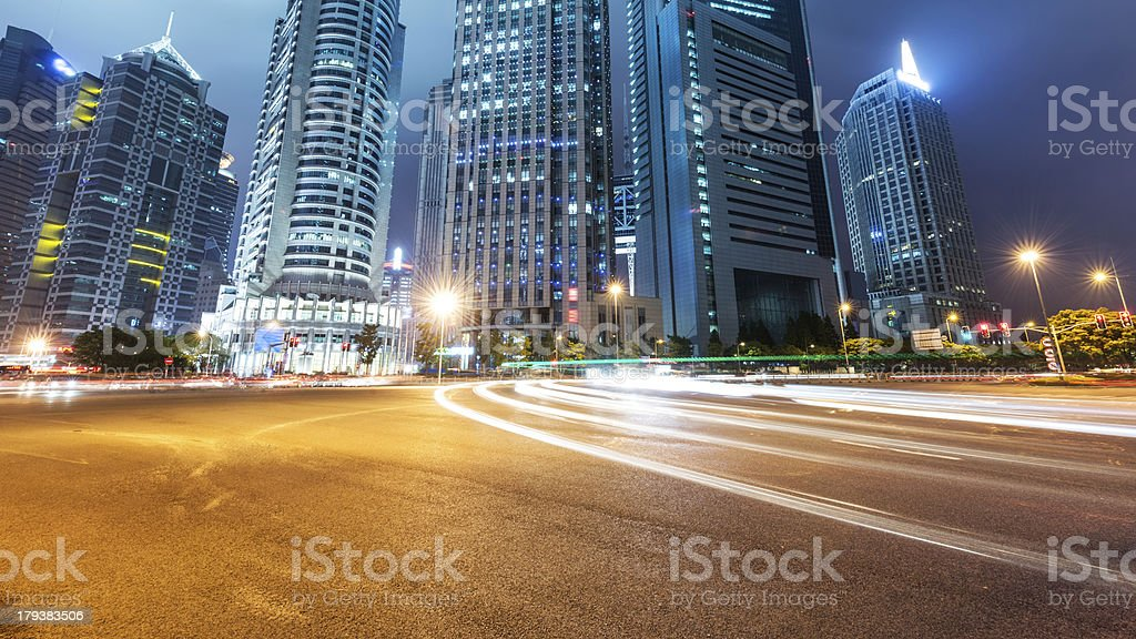 light trails royalty-free stock photo