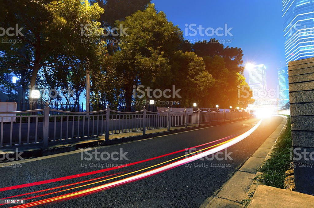 Light trails royalty-free stock photo