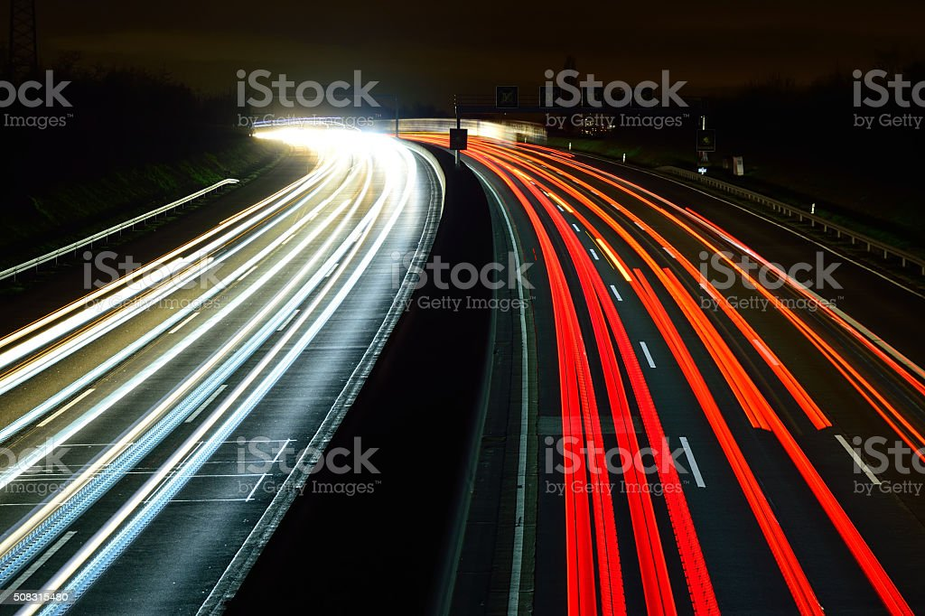 Light trails stock photo