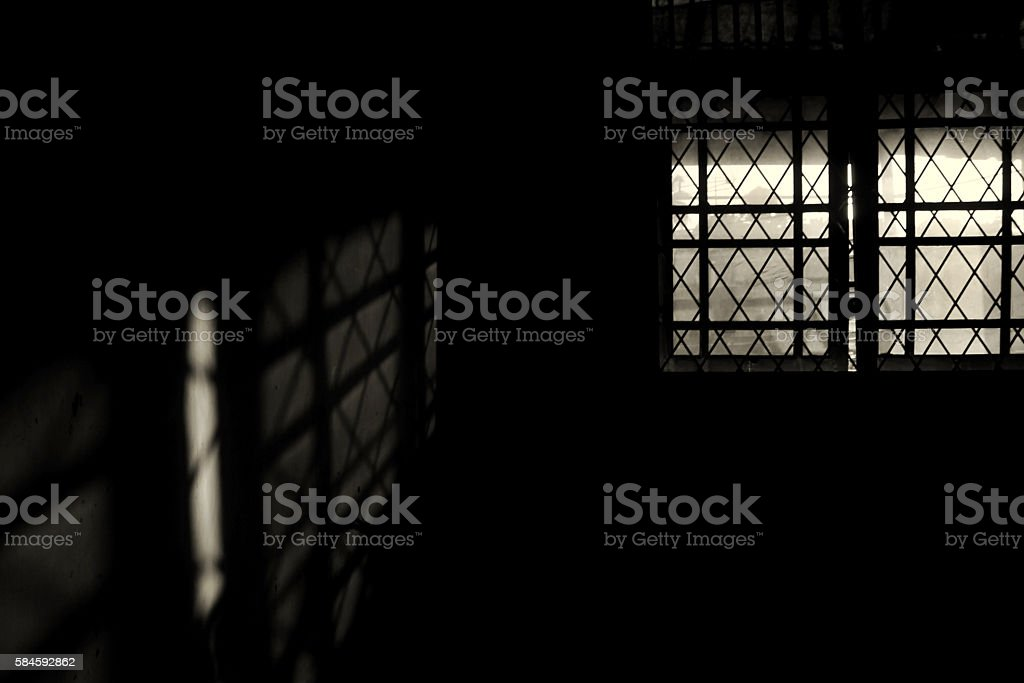 light trough the window stock photo