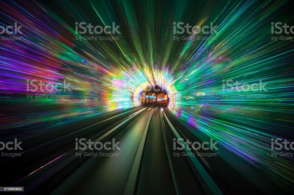 Light Tunnel stock photo