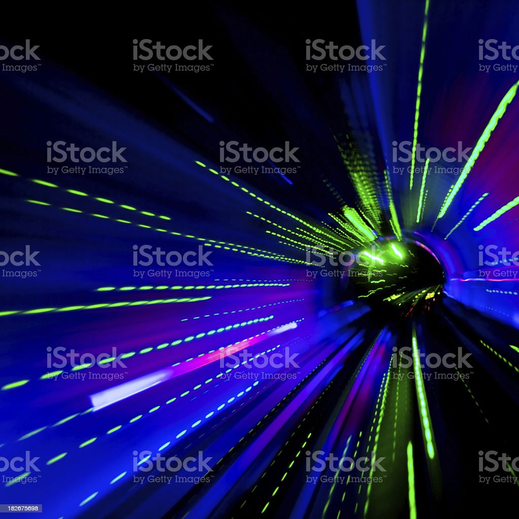Light Tunnel Speed royalty-free stock photo