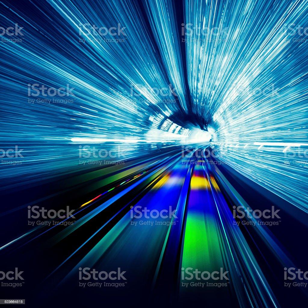 Light Tunnel Speed stock photo