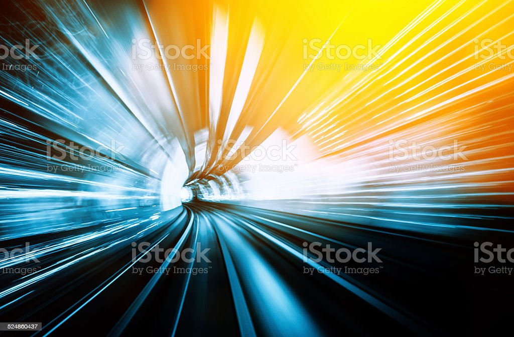 Light Tunnel Speed stock photo