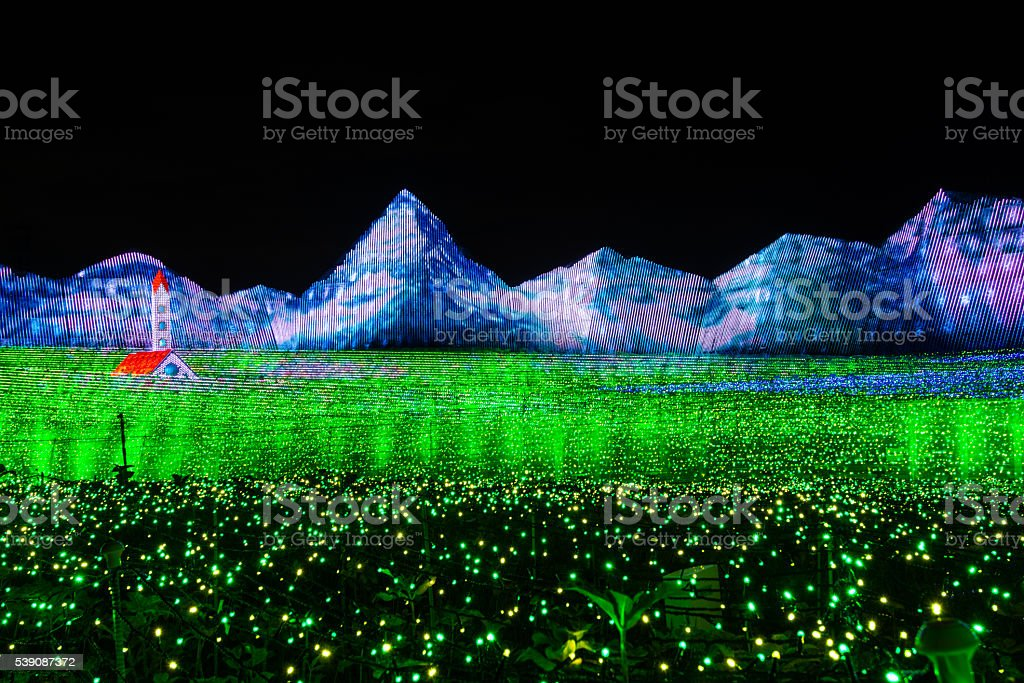 Light Up Like Green Field stock photo