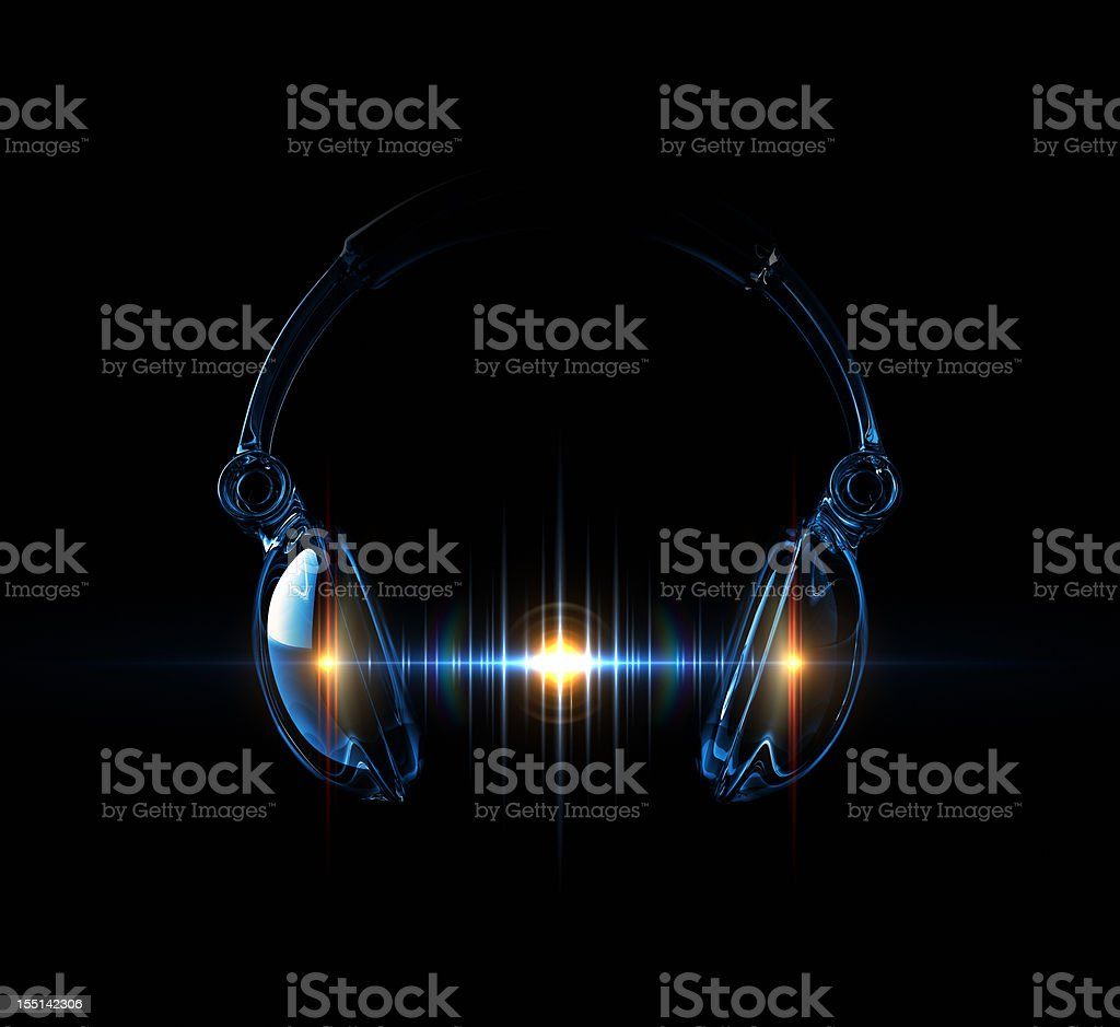 Light Wave Of Sound royalty-free stock photo