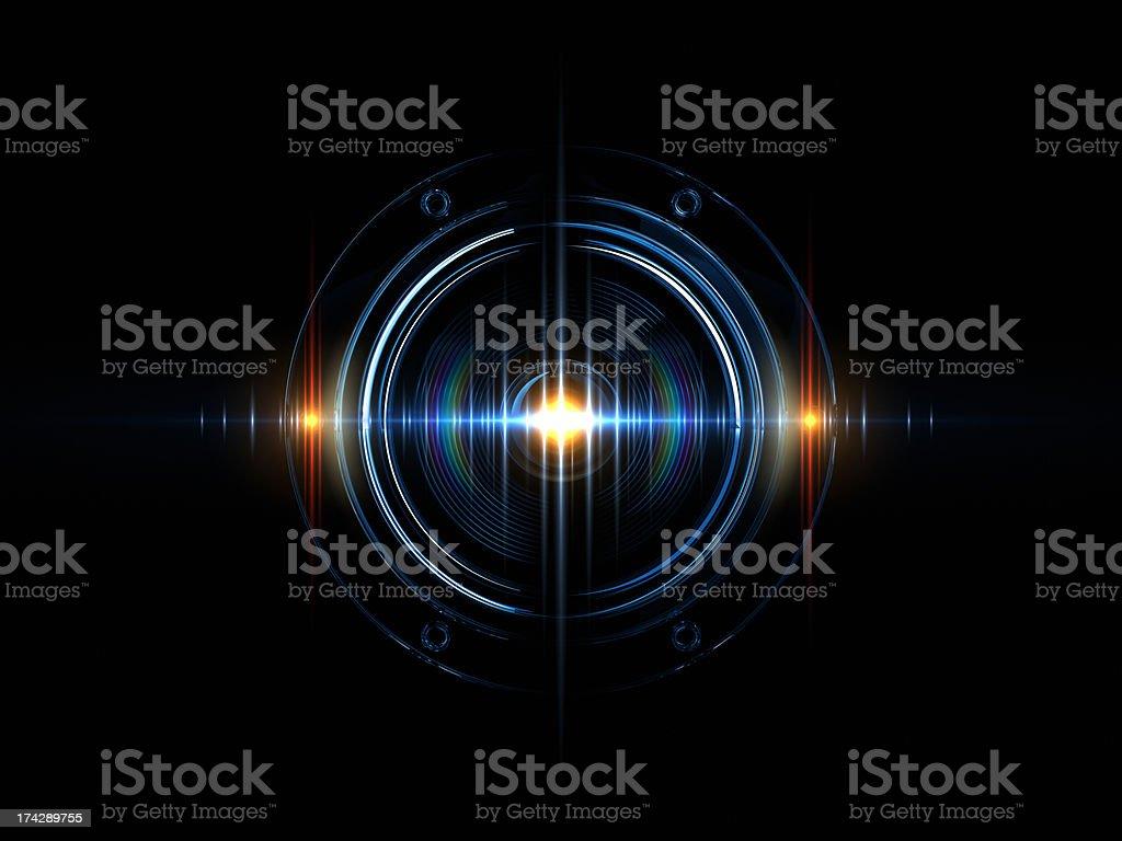 Light Wave Of Sound royalty-free stock photo