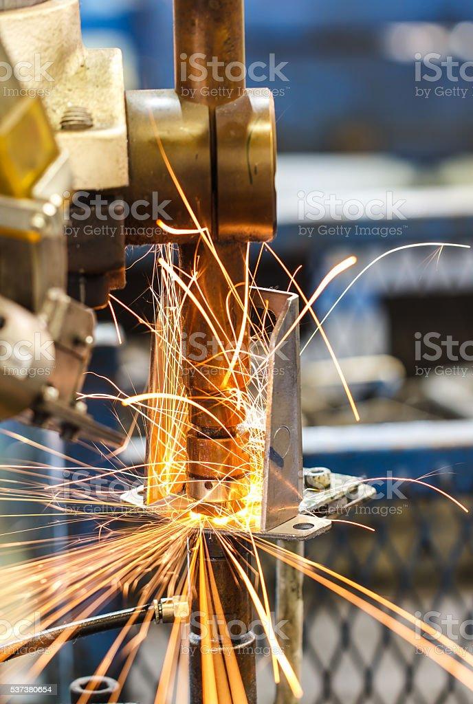 Light welding steel stock photo