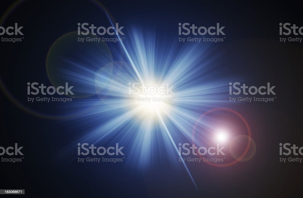 light with lens flare royalty-free stock photo