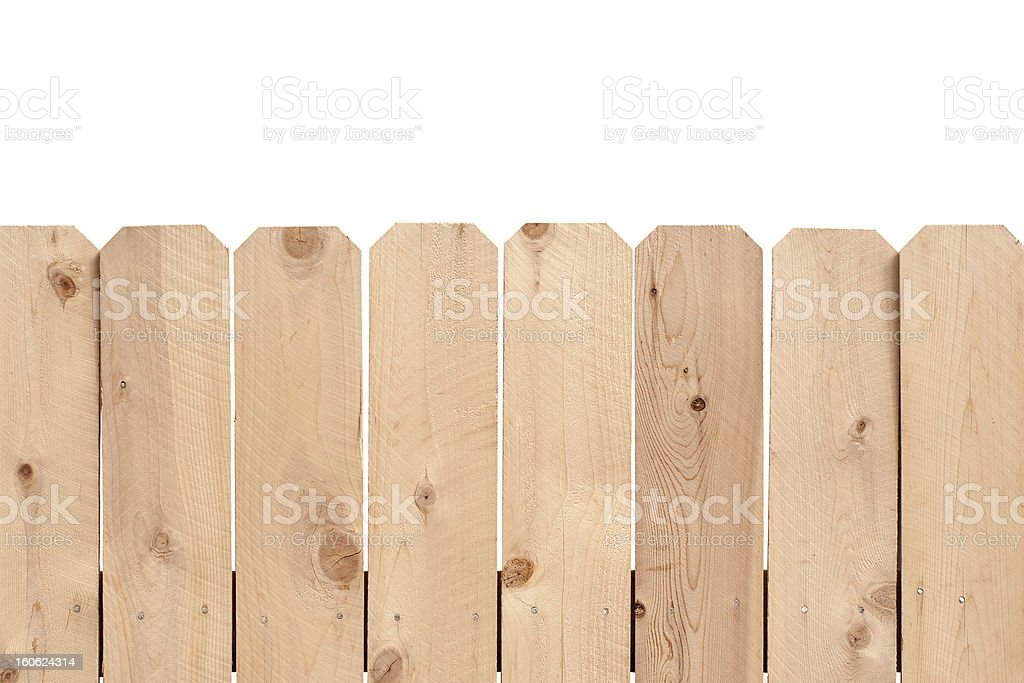 Light wooden feance royalty-free stock photo