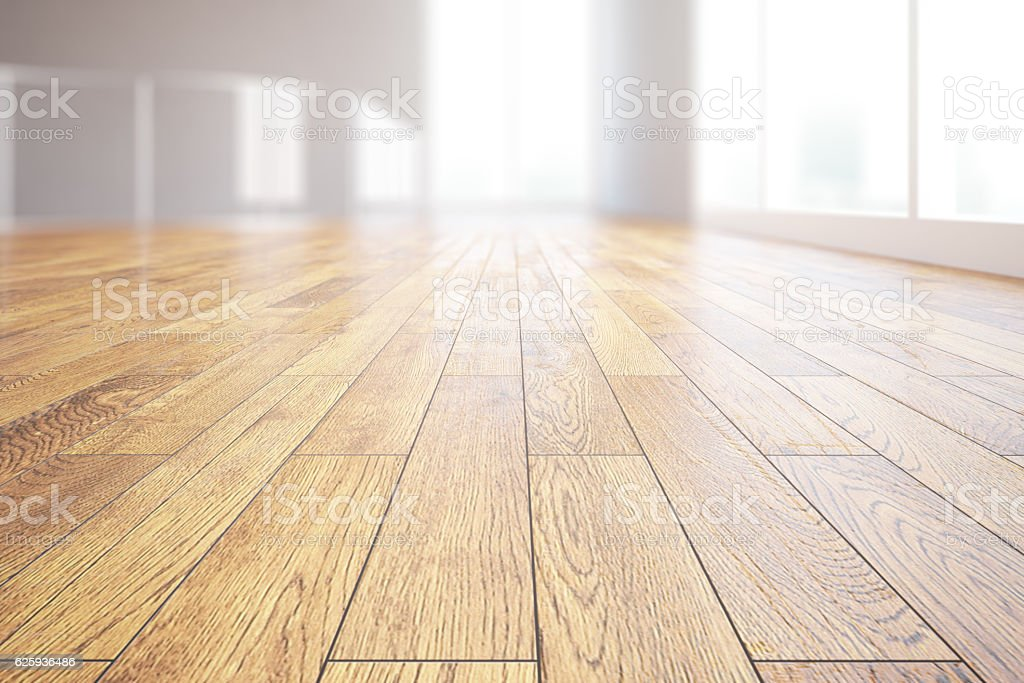 Light wooden floor closeup stock photo