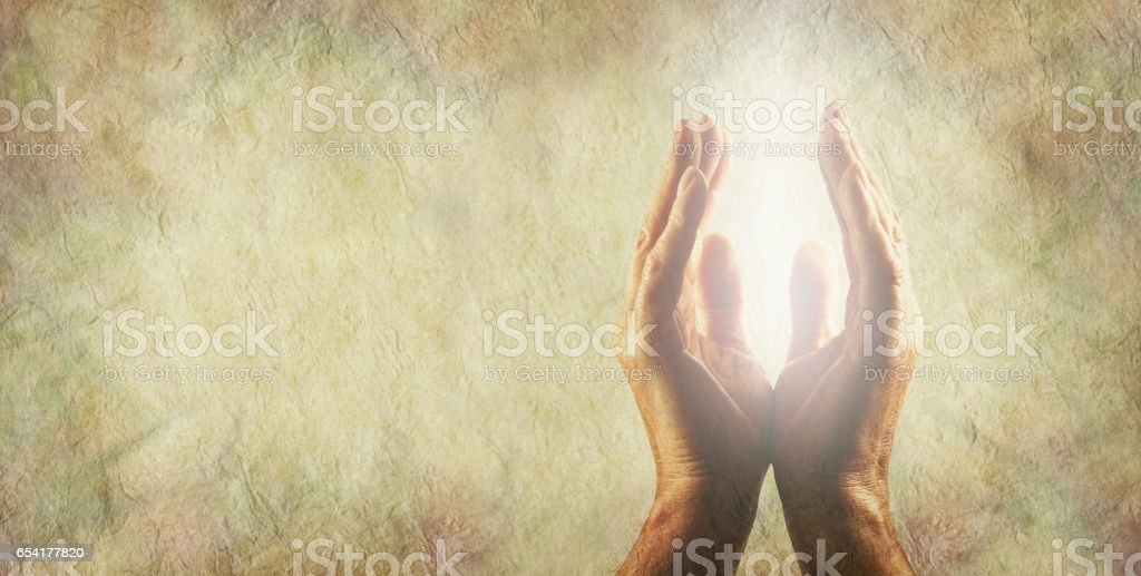 Light worker Message Board Banner stock photo