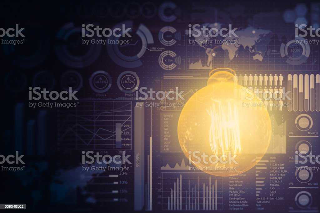 light your business vision. stock photo