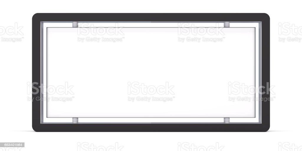 Lightbox On white Background stock photo